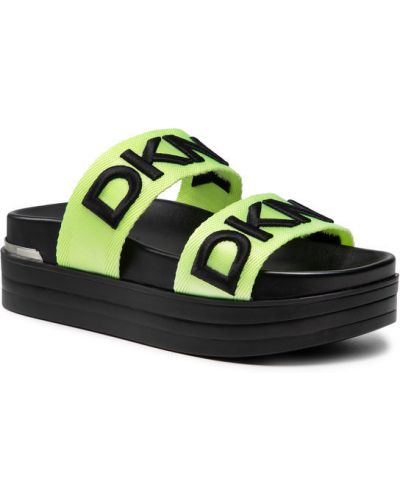 Zielone klapki Dkny