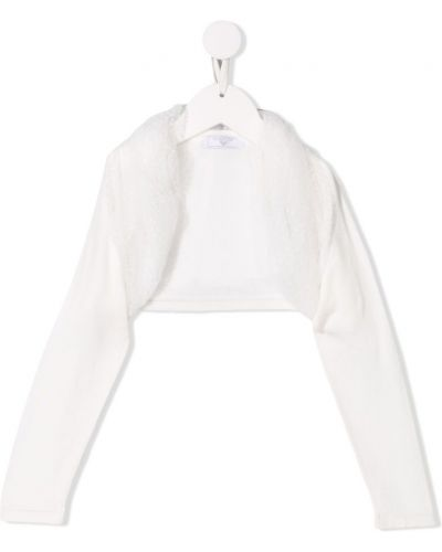 Пиджак короткий белый Monnalisa