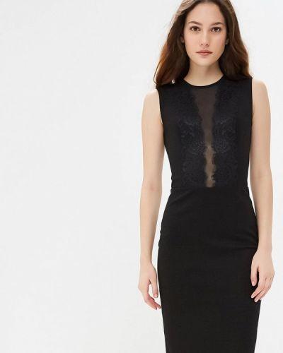 Вечернее платье осеннее черное Gorchica