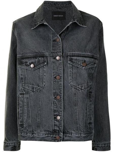 Джинсовая куртка оверсайз - черная Nobody Denim