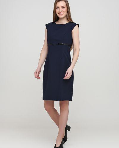 Синее платье без рукавов Nife
