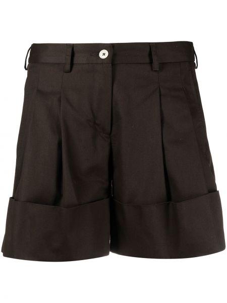 Коричневые хлопковые шорты с карманами Jejia