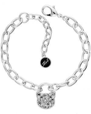 Bransoletka z kryształami swarovskiego metal Karl Lagerfeld