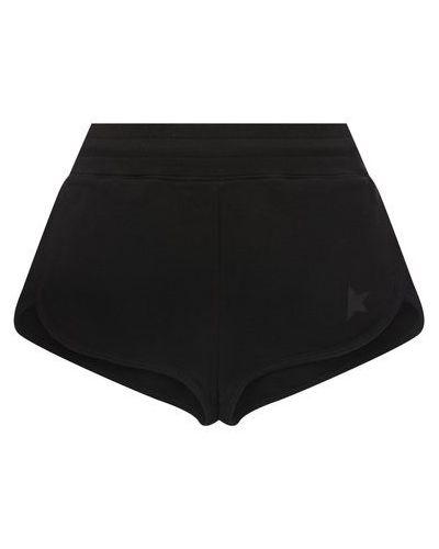 Хлопковые шорты - черные Golden Goose Deluxe Brand