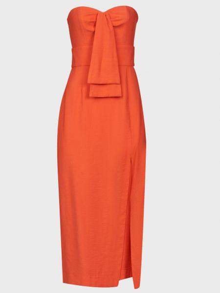 Оранжевое платье из вискозы на молнии Finders Keepers