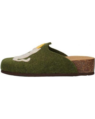 Zielone kapcie Bionatura