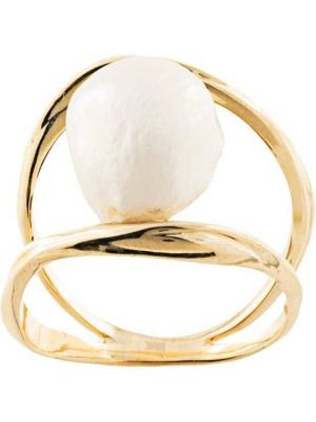 Złoty pierścionek perły Joanna Laura Constantine