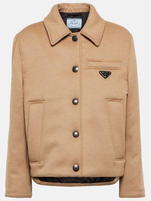 Дутая куртка - коричневая Prada
