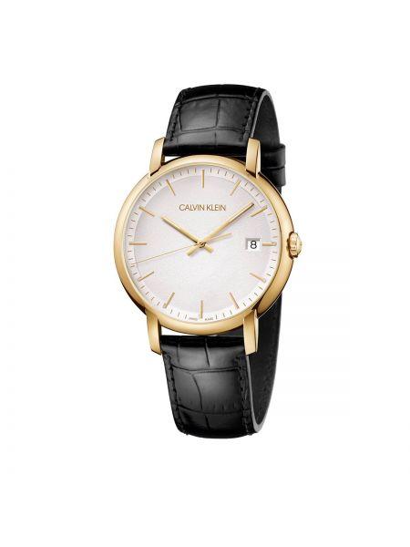 Złoty zegarek - biały Calvin Klein