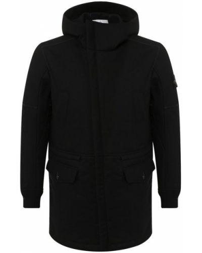 Куртка с капюшоном на молнии шерстяная Stone Island