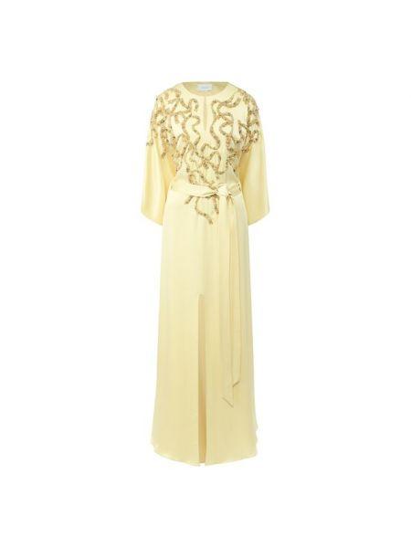 Платье макси - желтое Marchesa