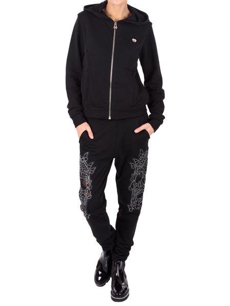 Хлопковый спортивный костюм - черный Philipp Plein