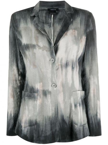 Серый пиджак с карманами на пуговицах Avant Toi
