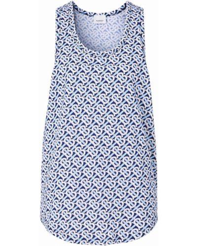 Niebieska T-shirt z nadrukiem z printem Burberry