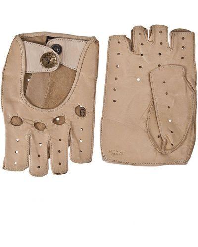 Кожаные перчатки серые Alpa Gloves