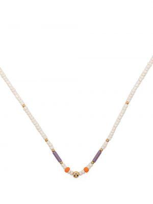 Złoty naszyjnik łańcuch - fioletowy Petite Grand
