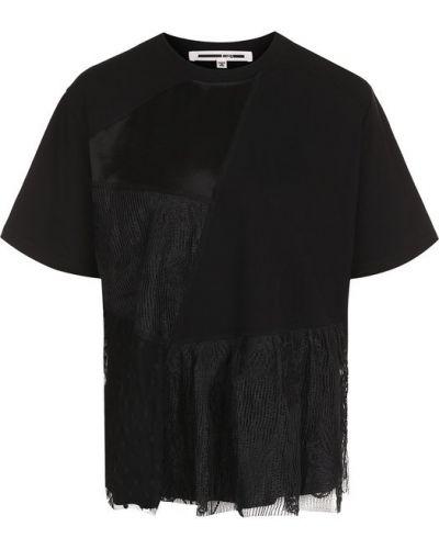 Черная свободная футболка Mcq