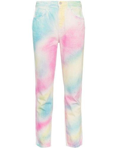 Пляжные джинсы с высокой посадкой с воротником винтажные с карманами Jordache