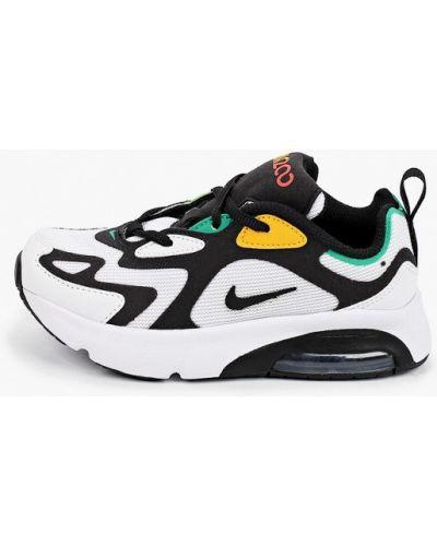 Кожаные белые кроссовки Nike