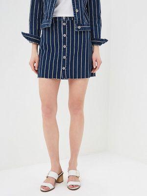 Джинсовая юбка синяя Q/s Designed By