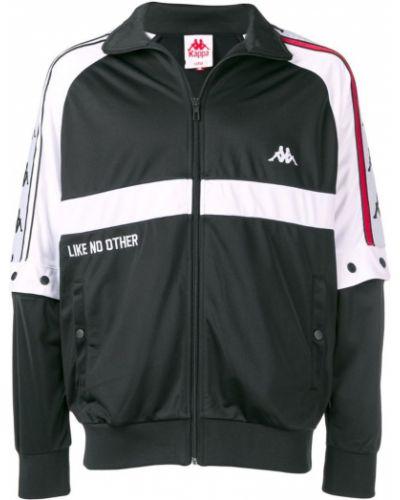 Спортивная куртка с логотипом черная Kappa