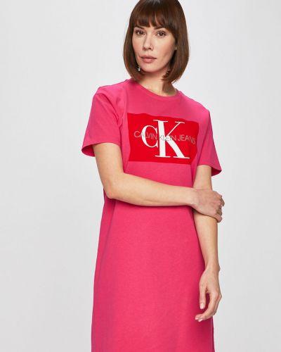 Джинсовое платье мини повседневное Calvin Klein Jeans