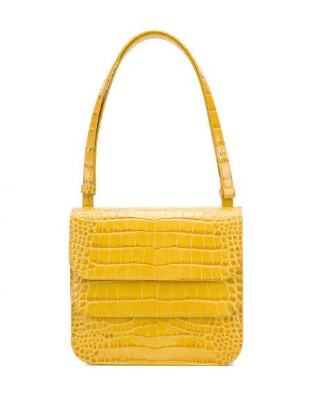 Желтая с ремешком кожаная сумка на плечо Rejina Pyo