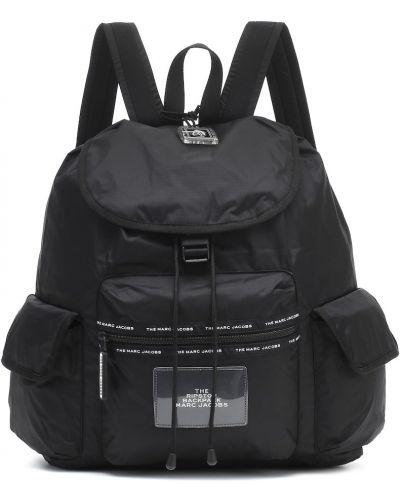 Nylon światło czarny plecak z gniazdem Marc Jacobs