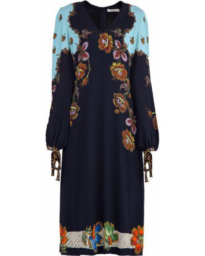 Платье с цветочным принтом со вставками Etro