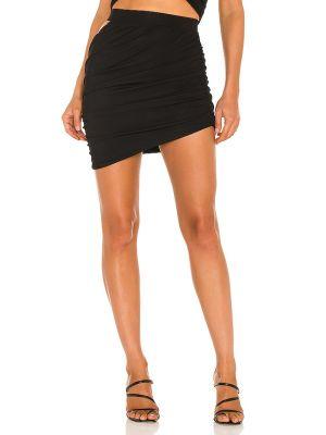 Трикотажная юбка мини - черная H:ours