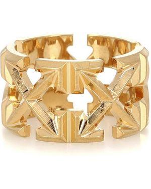 Biały złoty pierścionek Off-white