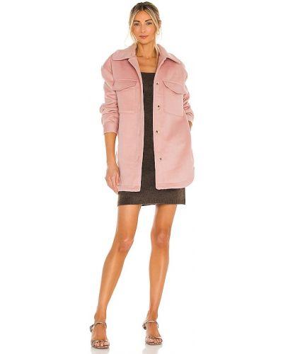 Шерстяная розовая куртка винтажная Line & Dot