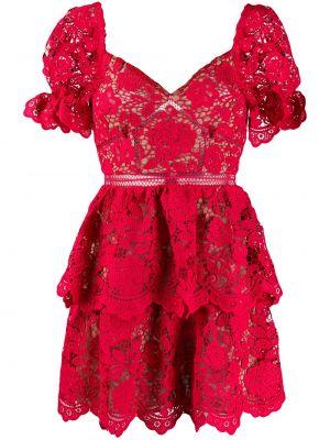 Платье мини с открытой спиной ажурное Self-portrait