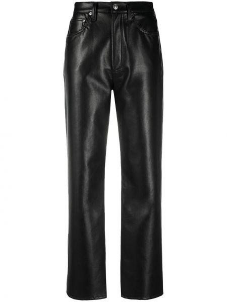 Кожаные брюки - черные Agolde