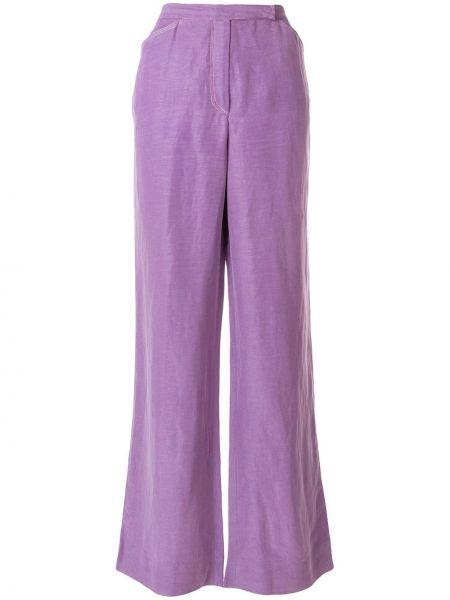 Льняные свободные брюки винтажные свободного кроя Emanuel Ungaro Pre-owned