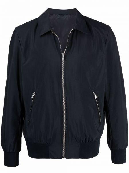 Klasyczna niebieska długa kurtka z długimi rękawami Limitato