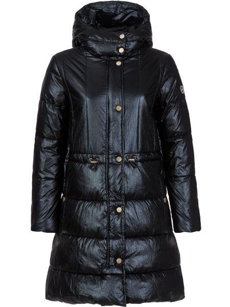 Черное пальто на молнии Armani Exchange