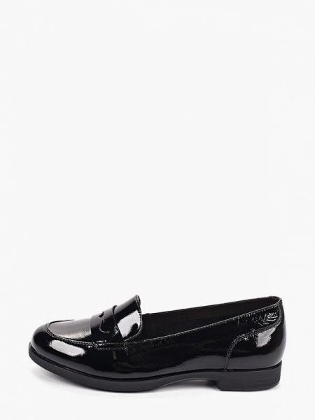 Черные кожаные туфли из натуральной кожи Thomas Munz