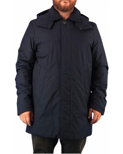 Płaszcz przeciwdeszczowy - niebieski Woolrich