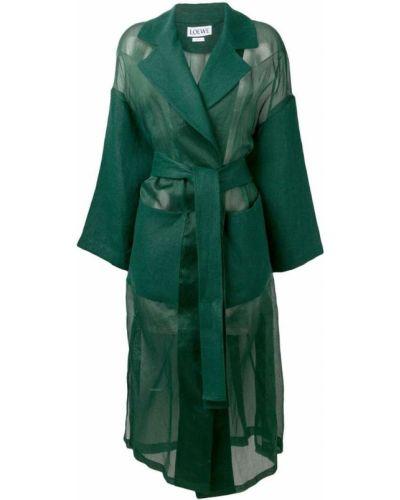 Длинное пальто с капюшоном Loewe
