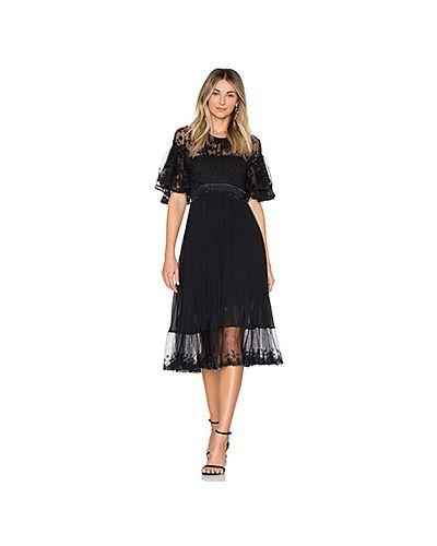 Платье миди на пуговицах плиссированное Three Floor