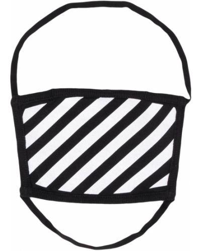 Z paskiem biały bawełna maska do twarzy na paskach Off-white