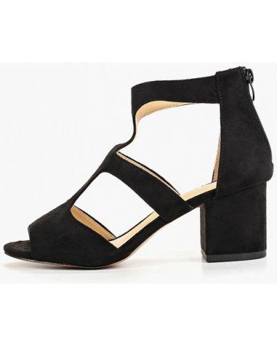 Босоножки черные на каблуке Martin Pescatore