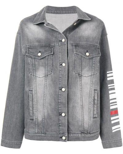 Серая джинсовая куртка с манжетами на пуговицах Quantum Courage
