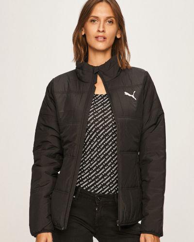 Черная стеганая куртка с запахом Puma