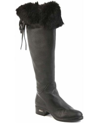 Сапоги осенние с мехом кожаные Loriblu