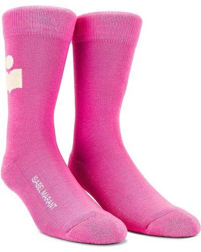 Ватные хлопковые розовые носки Isabel Marant