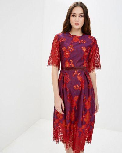Платье осеннее фиолетовый Ksenia Knyazeva