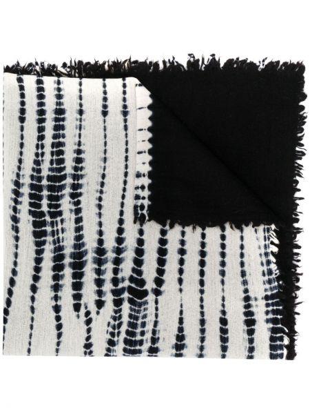 Шерстяной белый шарф Suzusan
