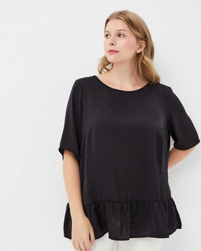 Черная блузка осенняя Junarose